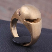 Private Design Stainless Steel Fashion Gold Color Small Finger Rings For Women And Men Solid Band Top Jewelry Gift 2017 (A504)