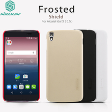 Original Nillkin For Alcatel Onetouch idol 3 5.5 inch Case Frosted Shield Hard Plastic Cell Phone Cover Shell for Alcatel Idol 3(China)