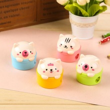24pcs/lot Kawaii 3D Little Cat design Mini Sharpeners for pencils cute gift students' zakka DIY tools Stationery Wholesale(China)