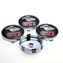 20PCS/LOT 60mm Rabbit GTI Logo Auto Car Wheel Center Cap Hub Caps Car Rims Cover Badge Emblem For VW Styling