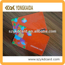 64K ATMEL 24C02 Factory Wholesale 3000 pcs/lot ISO 7816 Read-write PVC Customized Printed Card Contact IC Card