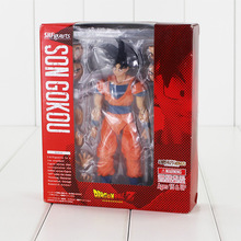 Free Shipping 16cm Anime Dragon Ball Z SHF Figuarts Son Goku Action Figure SHFiguarts Gokou DBZ Model Doll Kids Toys(China)