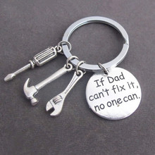 "Mini Tools Keychain "" If Dad Can't Fix It No One Can "" Father Gift for Daddy's Gift(China)"
