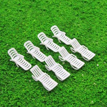 12pcs Model Train Railway Layout 1:50 1:75 1:100 Sun Loungers Beach Chairs Settee O OO TT Scale TYS17 Plastic Model Beaches