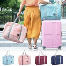 2017 Hot Casual Large Capacity luggage Packing Tote/Shoulder Travel Shopping Big Bag Folding Clothes Storage Pouch Organizer 3