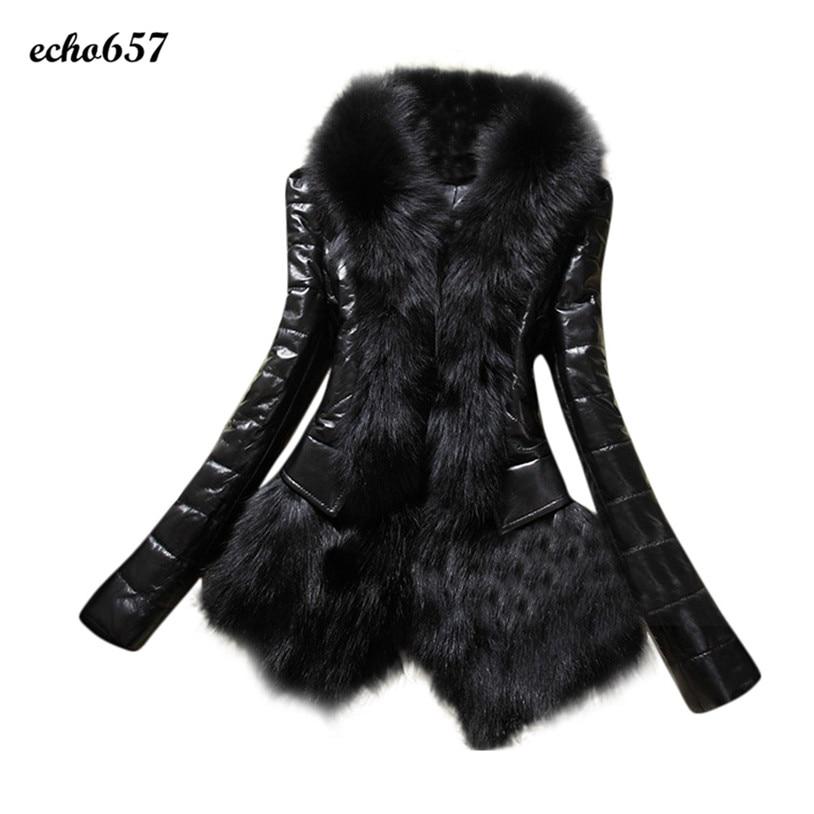 Coat Women Echo657 Hot Sale Fashion New Designer Women Warm Fur Collar Coat Leather Thick Overcoat Parka Dec 4Одежда и ак�е��уары<br><br><br>Aliexpress