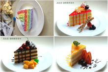 2017 Famous Coffee Shop Decoration Hot Sale Set Western-style Food Simulation Model delicious fruits cake rainbow chocolate XM(China)