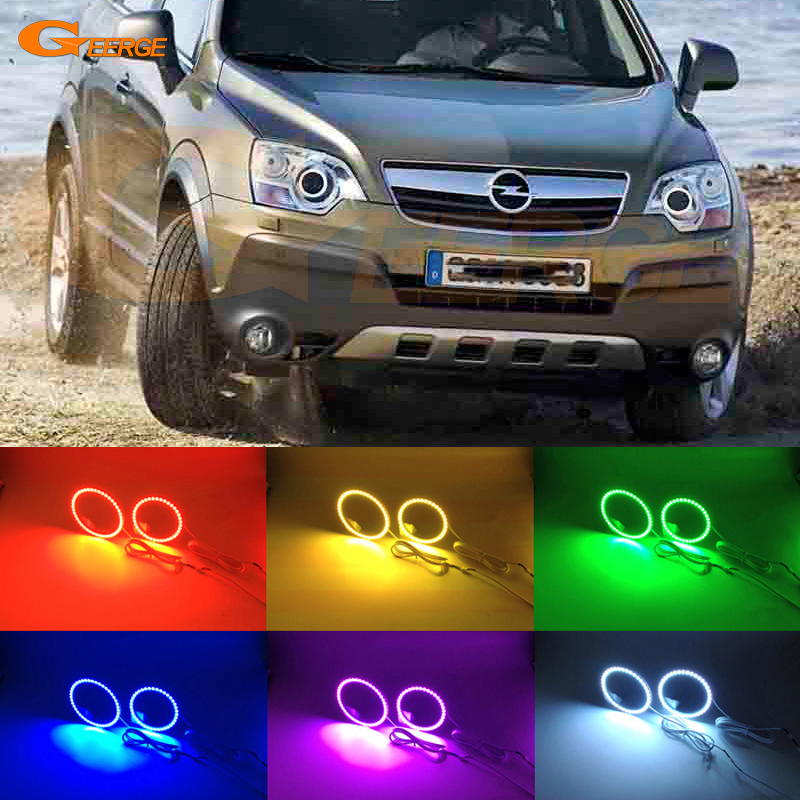 For Opel Antara 2006 2007 2008 2009 2010 xenon headlight Excellent Angel Eyes Multi-Color Ultra bright RGB LED Angel Eyes kit<br>