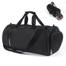 Big Capacity Unisex Nylon Sport Gym Bag Barrel Fitness Training Sports Handbag Traveling Package Shoulder Bag With Shoes Pocket