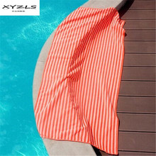 XYZLS Soft Beach Towel Striped Bath Towels Quick-dry Outdoor Sports Swimming Yoga Mat for Adults