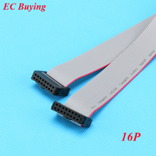 10pcs/lot FC-16P 2.54mm Pitch JTAG AVR Download Cable Wire Connector Gray Flat Ribbon Data Cable 2x8 pins 2*8 16 Pins 30(China)
