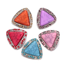 Buy New Rhinestone Triangle Shape Metal Charms 18mm Snap Button DIY Charms Bracelet 18mm Snaps Jewelry KZ0351 for $1.79 in AliExpress store