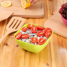 Food grade plastic square plate salad bowl creative living room melon fruit plate small snack candy plate salad bowl WYQ