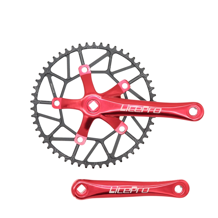 Round Chainring BCD 130mm Crank Single Disc 50 52 54 56 58T for Folding Bike