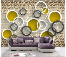 Custom 3d photo wallpaper room mural color glass brick wall 3d photo wall 3d room non-woven mural wallpaper for walls 3 d