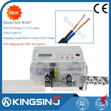Two Layers Flat Cable Cutting Stripping Machine, PC Controlled KS-W607 + Free shipping by DHL air express (door to door service)(China)