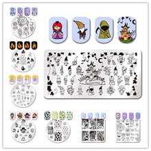 BORN PRETTY Nail Art Stamping Template Geometry Stripes Cat Tiger Leopard Eye Fire Flower Manicure Nail Art Image Plate(China)