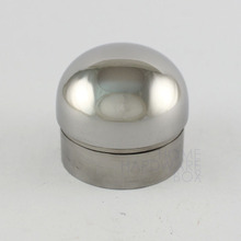 stainless steel dome end cap OD 50mm tube cover polished rail tubing pipe(China)