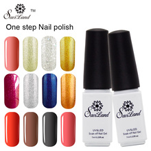 Saviland Long Lasting One Step Gel Nail Polish 3 In 1 Gel Varnishes Esmalte Uv Color Semi Permanent No Top Base Gel(China)