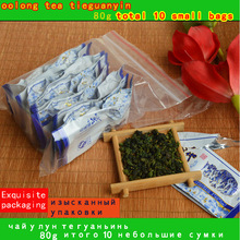 2017 Top grade Chinese Oolong tea ,vacuum pack total 10 small bags 80g TieGuanYin tea organic natural health care products free