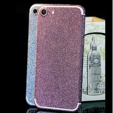 Bling Glitter Full Body Protective Phone Sticker Decal Skin Wrap Cases Cover For Apple iphone 7/7 Plus 360 Degree Phone Colorful