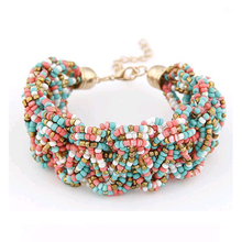 Tomtosh New Bohemia Retro Bracelet For Women Pure Handmade Bead Multicolor Charm Vintage Cuff Bracelets & Bangles Fine Jewelry