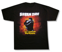 Green Day Kiss Color 21st Century Breakdown Black T Shirt New Official Punk Rock