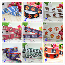 7/8'' Free shipping sport team football printed grosgrain ribbon hairbow headwear party decoration diy wholesale OEM 22mm S420(China)