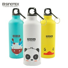 500ML New Bicycle Water Bottle Sport Kettle Cute Animals Gym Kettle Running Water Mountaineering Sport Bottle 1PCS/Lot(China)