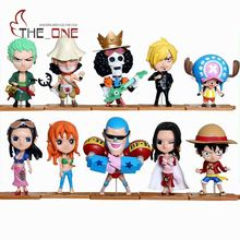 10 Piece/Set 7-12cm Cartoon One Piece Luffy Zoro Nami Robin  PVC Anime Action Figure Toys Kids Adult Collection Model Gift P021