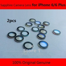 2 pcs Original for iPhone 6/ iPhone 6 Plus Camera Lens; Sapphire Crystal Single Glass Without Frame + 3M Sticker