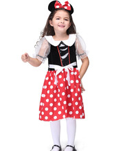 Girls Minnie Costume Halloween Costume For Kids Catwomen Cosplay Performance Dancewear Toddler Anime Disfraces Carinal