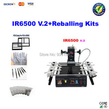 LY IR6500 V.2 BGA Reball Station, bigger preheat area 240*200mm bga machine, USB port, bottom 2 PC fan, PCB jigs 6 pcs+bga kits