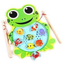 1 piece Baby Wooden Toys Magnetic Fishing Game Jigsaw Puzzle Board 3D Jigsaw Puzzle Children Education Fish Toy for Children(China)