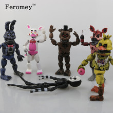 New Arrival Five Nights At Freddy's FNAF Action Figures Toys Bonnie Foxy Freddy Fazbear Bear PVC Figure Dolls Toys for Children(China)