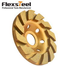 "Heavy Duty 4"" Concrete Turbo Diamond Grinding Cup Wheel Saw Blade for Angle Grinder 12 Segs(China)"