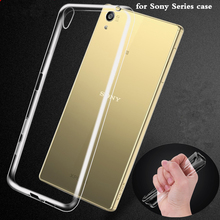 MPCQC For Sony Xperia XA Z1 Z2 Z3 Mini Z5 plus M2 M4 M5 E5 C4 C5 C3 C6 T2 T3 XZ E4 Transparent TPU Phone Case Soft Cover bags