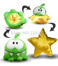 Cut The Rope Reversible Star Om Nom Plush Toy 15cm 6'' Cute Frog Stuffed Animals Kids Toys for Children Gifts