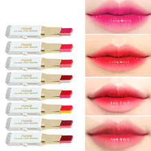 brand NOVO magic lipstick kiss proof long lasting waterproof cheap lipstick flower lipstick lipbalm baton mate matte red lip(China)