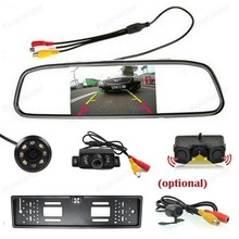 Universal wireless 4.3 inch Car LCD Rearview Mirror Monitor CCD Video with Reversing Camera Auto Parking Assistance system