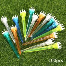 100 Pieces Plastic Assorted Golf Crown Shape Booster Tees 78mm Friction Reduce Tee