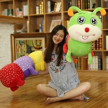 190cm Jumbo Soft Animal Caterpillar Plush Toys Stuffed Giant Colorful Cartoon Caterpillars Pillow Doll 72inch