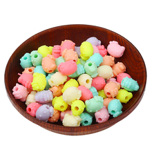 20pcs/lot Big Hole Spacer Beads forJewelry Making Cartoon Hello Kitty Beads Kids Lovely DIY Beads for Necklace and Bracelet