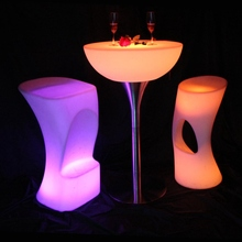 Led Bar Furniture Illuminated Lighting Bar Table For Indoor Or Outdoor SK-LF20 (D66*H110cm) 2pcs/Lot(China)