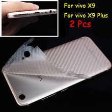 2 Pcs 3D Anti-fingerprint Full Cover Clear Carbon Fiber Back Screen Protector Film Wrap Skin Stickers For BBK vivo X9 / X9 Plus