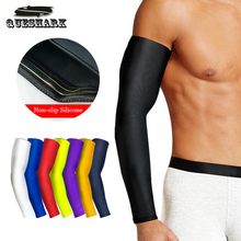 1Pcs Breathable Quick Dry UV Protection Running Arm Sleeves Basketball Elbow Pad Fitness Armguards Sports Cycling Arm Warmers(China)