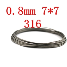 0.8mm 7*7 Authentic Marine Seaworthy Grade 316 316L Stainless Steel Wire Rope,Stainless Steel Cable(China)
