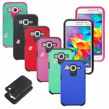 2 in 1 Hybrid Dual Color Hard Plastic Case For Samsung Galaxy Grand Prime G530 Core Prime G360 Armor + Soft Silicone Cover 70pcs
