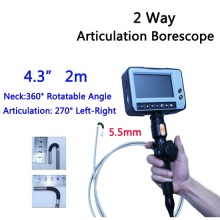 5.5mm 2 Way Direction 2M Rotational Inspection Camera Industry Endoscope Video Borescope 4.3inch LCD USB SD Card ,VD-2ED55(China)