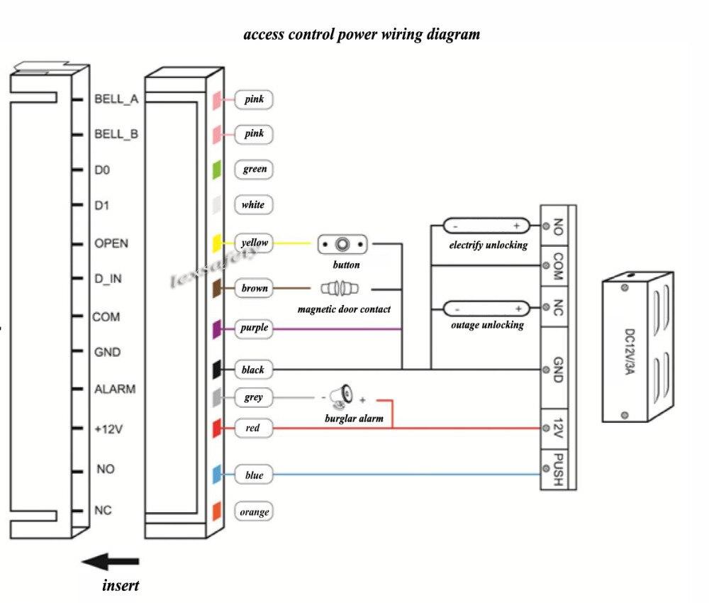 2018 125khz Id Secure Door Locks Rfid Reader Metal Keypad Card Access Wiring Diagram A2 A3 A2a3 3